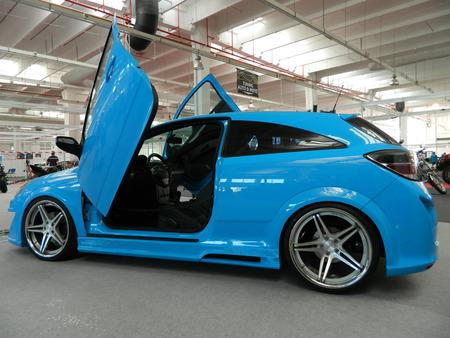 astra: Blue tuned car  Vauxhall  Opel Astra