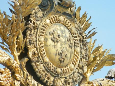 iii: Pont Alexandre III ornament in Paris Stock Photo
