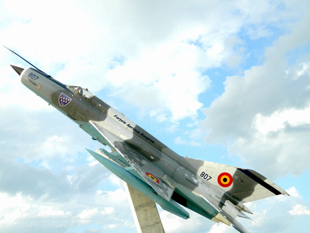 The Mikoyan-Gurevich MiG-21  is a supersonic jet fighter aircraft, designed by the Mikoyan-Gurevich Design Bureau in the Soviet Union.The Romanian Air Force modernized 110 MiG 21 LanceRs, in cooperation with Israel between 1993 and 2002. Today, 48 of thes Editorial