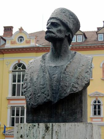 severus: Bust sculpture of Badea Cartan Gheorghe in Astra Park , Sibiu, Romania.