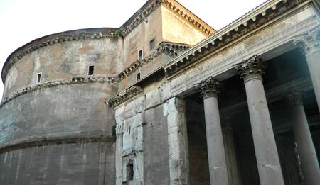 retained: The Pantheon is a building in Rome, Italy, on the site of an earlier building commissioned by Marcus Agrippa during the reign of Augustus . The present building was completed by the emperor Hadrian and probably dedicated about 126 AD. He retained Agrippa