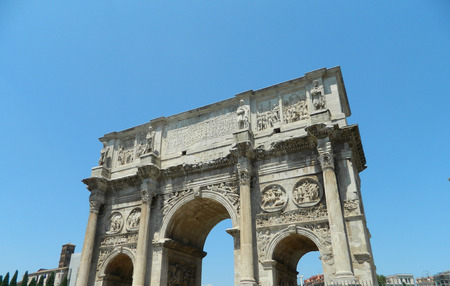 constantine: The Arch of Constantine (Italian: Arco di Costantino) is a triumphal arch in Rome, situated between the Colosseum and the Palatine Hill. It was erected by the Roman Senate to commemorate Constantine Is victory over Maxentius at the Battle of Milvian Brid