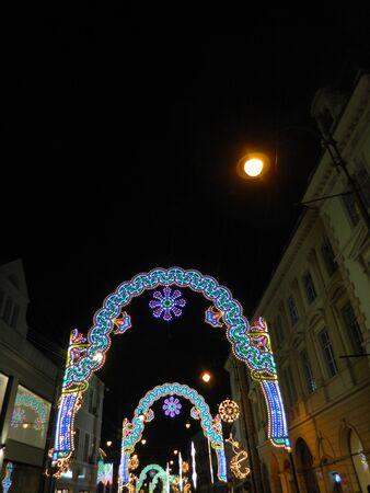 led tube lights christmas lights tunnel in former cultural capital sibiu romania - Tube Christmas Lights