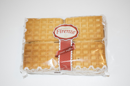 ROMANIA, MEDIAS - Sweet waffles from Confiserie Firenze wrapped in original package, on 15 January 2016 in Medias, Romania. Stock Photo - 51286463