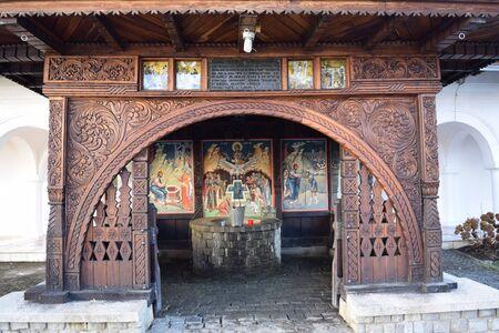 Monastery well at Sambata de Sus, Romania.