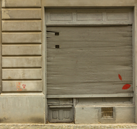 wholes: Shutter of communist old store