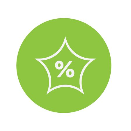 Green discount vector icon Иллюстрация