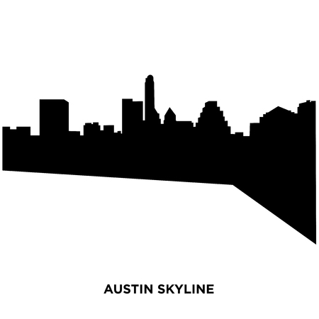 austin skyline silhouette Vector illustration.