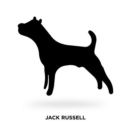 jack russell silhouette Vector illustration. 向量圖像