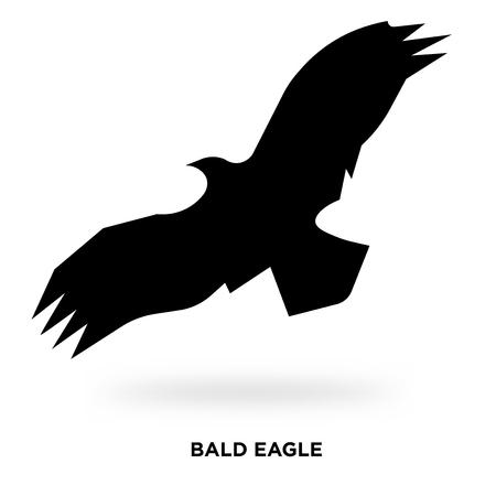 bald eagle silhouette Vector illustration.