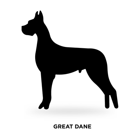 great dane silhouette Vector illustration. Иллюстрация
