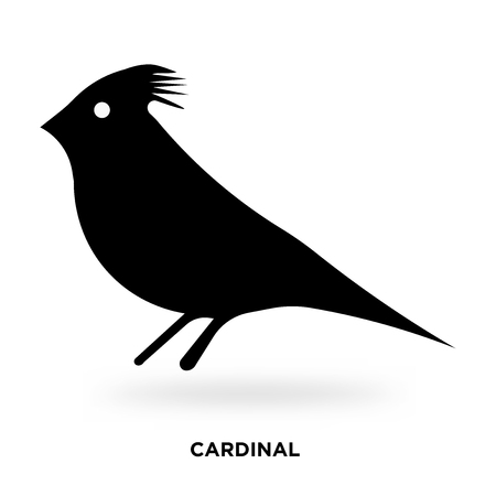 cardinal silhouette Vector illustration.
