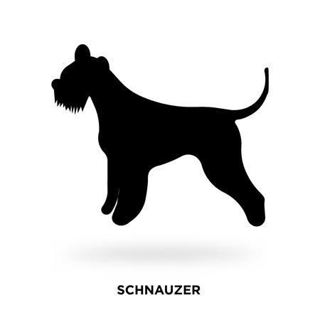 schnauzer silhouette Vector illustration. Illustration