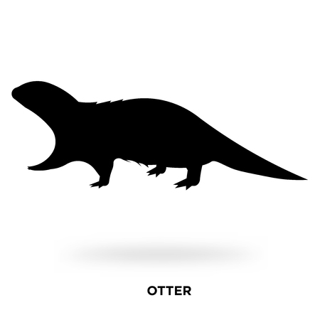 otter silhouette Vector illustration. Illustration