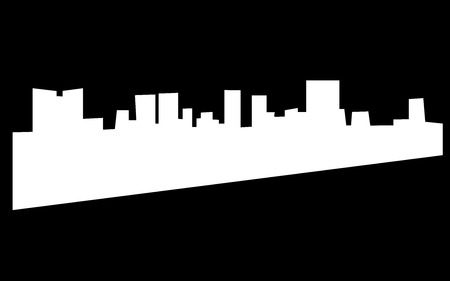 White fort worth skyline silhouette on black background