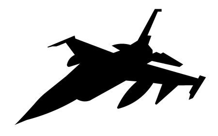 Jet silhouette on white background Illustration