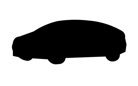 Car silhouette on white background 일러스트