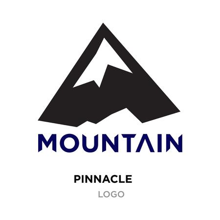 pinnacle logo for company, mountain vector isolated