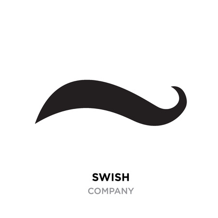 Black swish logo for company, Vector Swooshes. Illustration