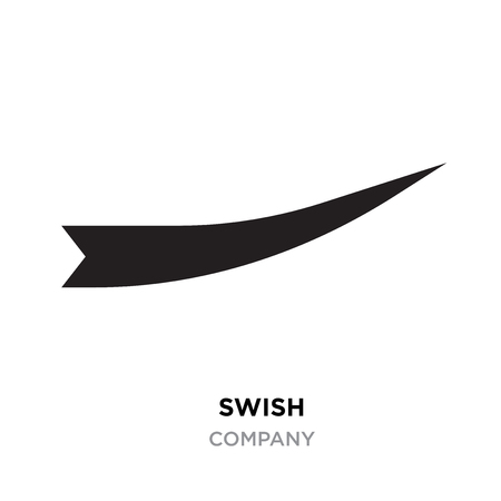 Black swish logo for company, Vector Swooshes, Whooshes, and Swashes