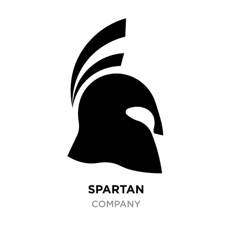 spartan logo images,helmet, silhouette greek warrior, gladiator, legionnaire, heroic soldier, fully editable vector image isolated on gray background