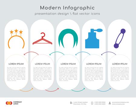 Information graphics design illustration