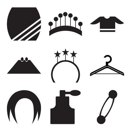 Set Of 9 simple editable icons illustration Stock Illustratie