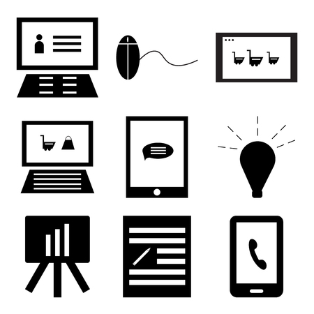 Set Of 9 simple editable icons such as Smartphone, Edit, Analytics, Idea, Smartphone, On, On, Pay per click, Laptop, can be used for mobile, web UI