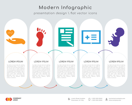 Infographics design vector and medical. Business concept with 5 options. web design
