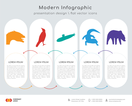 Business concept with 5 Infographics design options