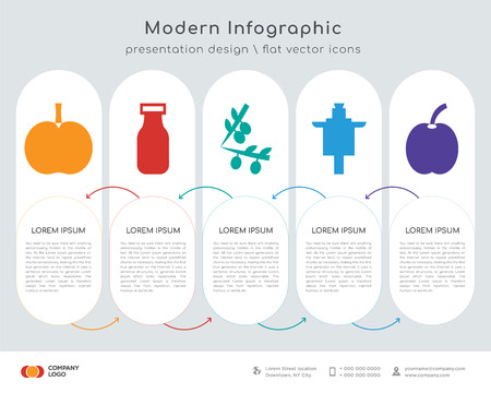 Infographics design vector and , milk, , stone breaker machine, icons can be used for workflow layout, diagram, annual report, web design.
