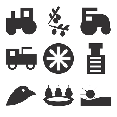 Set Of 9 simple editable icons such as sun, pear, stone breaker machine, prime mover, prime mover, , can be used for mobile, web UI