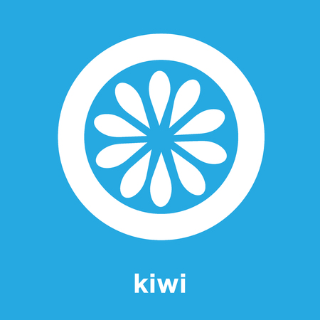 kiwi icon isolated on blue background, vector illustration 일러스트
