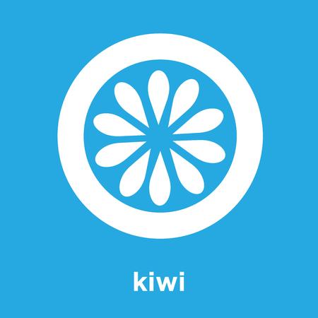 kiwi icon isolated on blue background, vector illustration Illustration