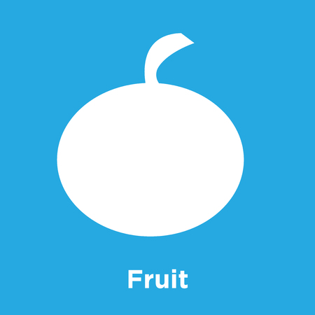 Fruit icon isolated on blue background, vector illustration