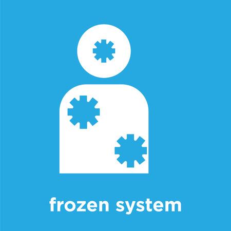 frozen system icon isolated on blue background, vector illustration Stock Illustratie