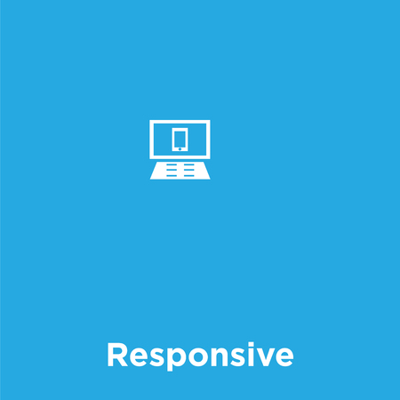 Responsive icon isolated on blue background, vector illustration Vectores