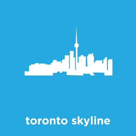 Toronto skyline icon isolated on blue background, vector illustration 일러스트