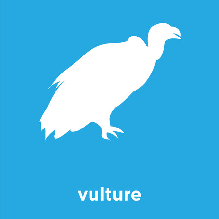 vulture icon isolated on blue background, vector illustration Vettoriali