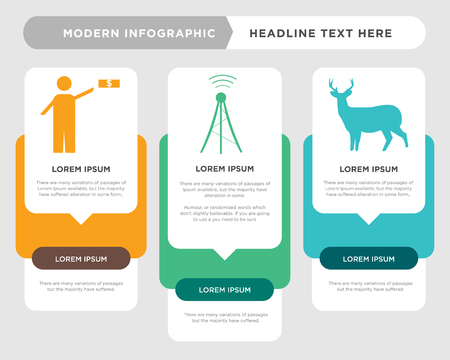 whitetail buck business infographic template, the concept is option step with full color icon can be used for cell tower diagram infograph chart business presentation or web, advisor vector design