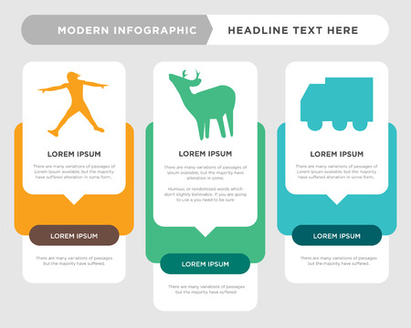 truck business infographic template, the concept is option step with full color icon can be used for whitetail buck diagram infograph chart business presentation or web, ninja warrior vector design Illustration