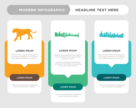 black la sky business infographic template, the concept is option step with full color icon can be used for black la sky diagram infograph chart business presentation or web, black lioness vector Stock Illustratie