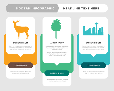 black space needle business infographic template, the concept is option step with full color icon can be used for black pinecone diagram infograph chart business presentation or web, black bull elk