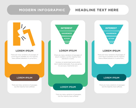 marketing funnel on white background, in black, business infographic template, the concept is option step with full color icon can be used for marketing funnel diagram infograph chart business