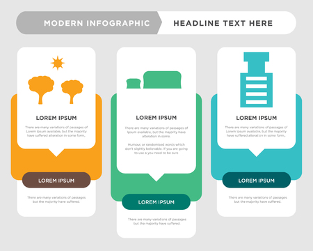 stone breaker machine business infographic template, the concept is option step with full color icon can be used for   diagram infograph chart business presentation or web, tree vector design element Illusztráció