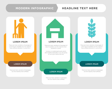 leaf business infographic template, the concept is option step with full color icon can be used for   diagram infograph chart business presentation or web, rake vector design element