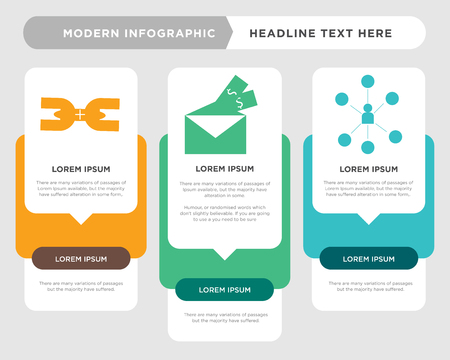 communication business infographic template, the concept is option step with full color icon can be used for   diagram infograph chart business presentation or web, chain vector design element 矢量图像