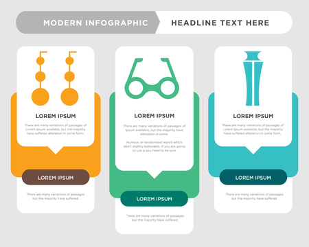 Perfume bottle business infographic template, the concept is option step with full color icon can be used for Rectangular eyeglasses diagram infograph chart business presentation or web, Dangling Illustration