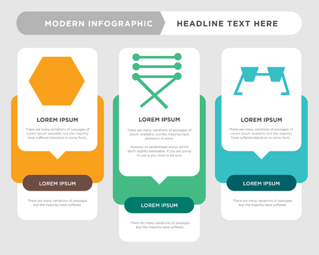 Eyeglasses business infographic template, the concept is option step with full color icon can be used for Cord of a shoe diagram infograph chart business presentation or web, Clothes button vector