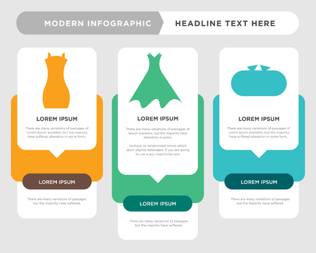 Tools case business infographic template, the concept is option step with full color icon can be used for Strapless dress with belt and petticoat diagram infograph chart business presentation or web, Illustration